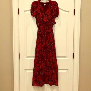 NWT Juniors floral rose maxi dress by Disney - M